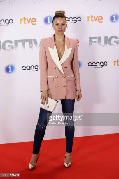 Singer Lorena Gomez attends the Fugitiva premiere at Callao Cinema on April 2 2018 in Madrid Spain