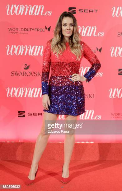 Singer Lorena Gomez attends the 'Woman 25th anniversary' photocall at Madrid Casino on October 18 2017 in Madrid Spain