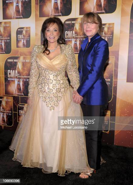 Singer Loretta Lynn and actress Sissy Spacek attend the 44th Annual CMA Awards at the Bridgestone Arena on November 10 2010 in Nashville Tennessee