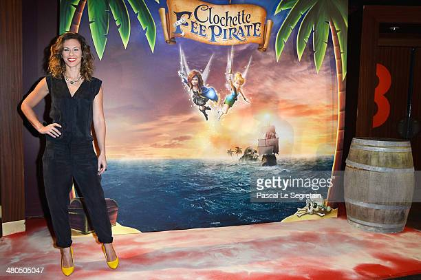 Singer Lorie attends 'Clochette et la Fee Pirate' Premiere at Gaumont Champs Elysees on March 25 2014 in Paris France