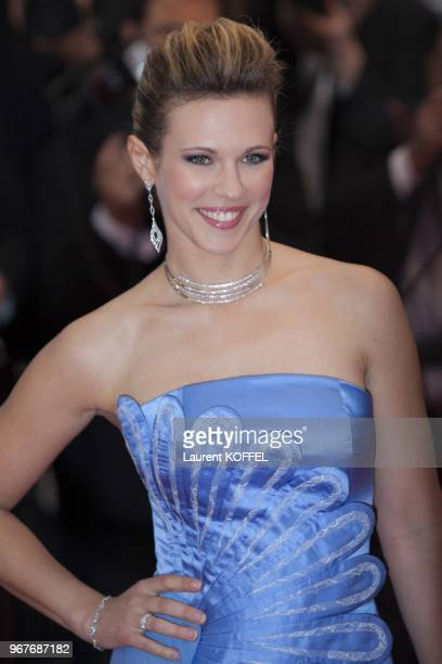 Singer Lorie attends Electrolux at Opening Night of The 66th Annual Cannes Film Festival at the Theatre Lumiere on May 15 2013 in Cannes France