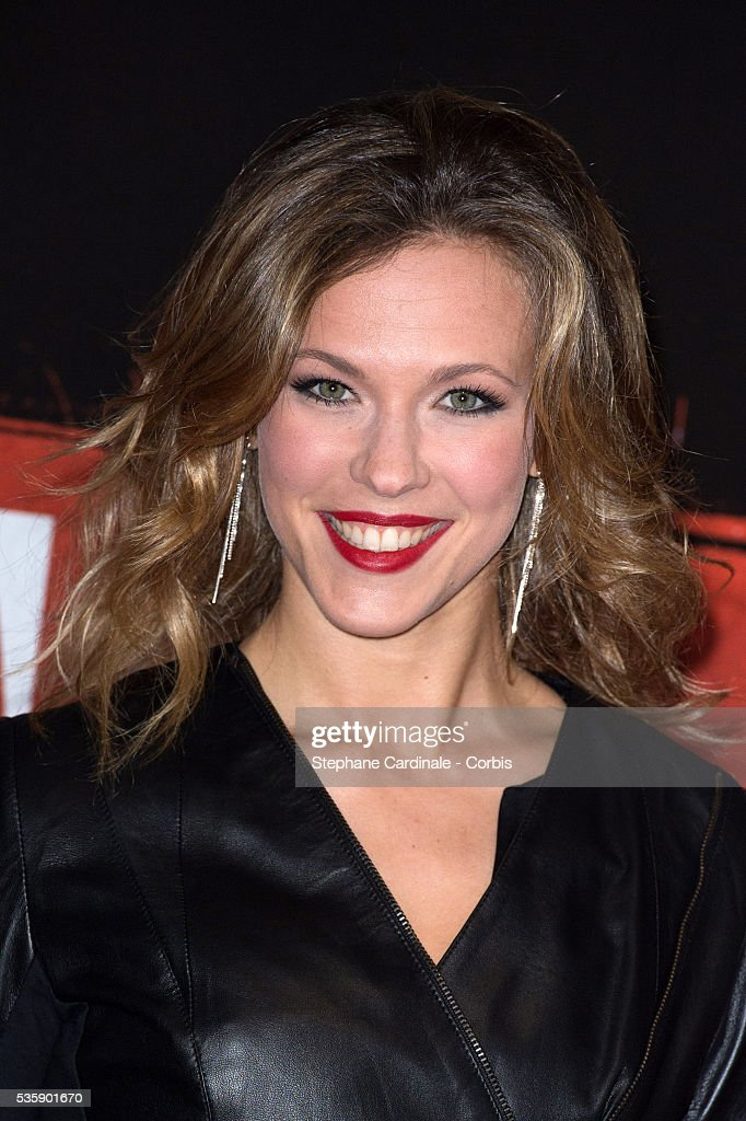 Singer Lorie attends the 'Malavita' premiere at Europacorp Cinemas at Aeroville Shopping Center, in Roissy-en-France, France.
