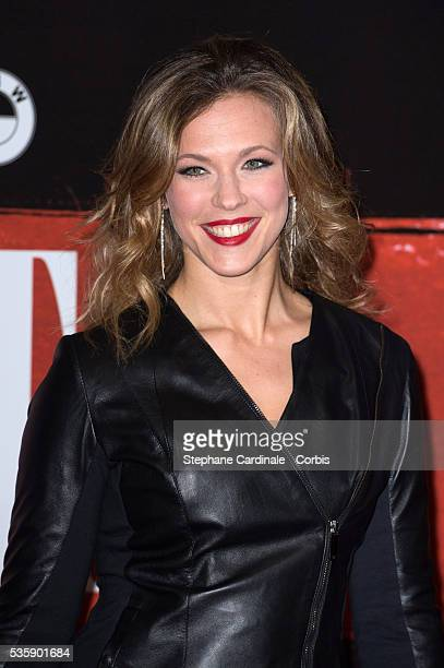 Singer Lorie attends the 'Malavita' premiere at Europacorp Cinemas at Aeroville Shopping Center in RoissyenFrance France
