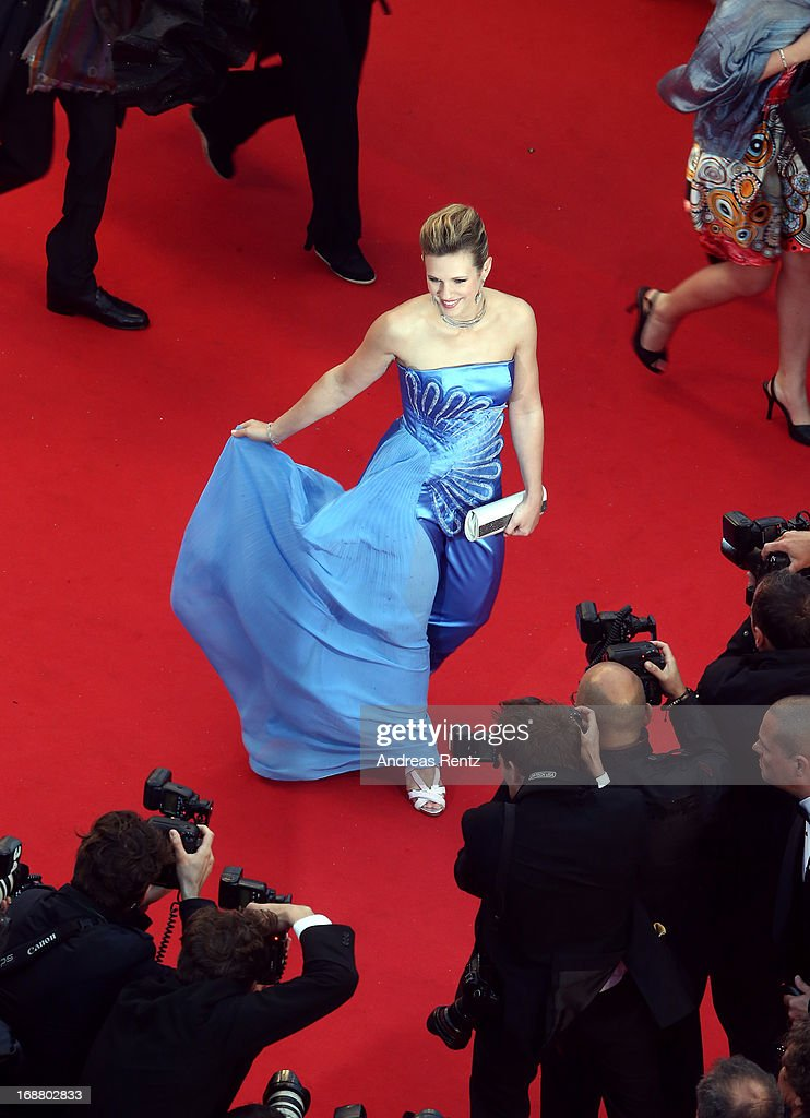 Singer Lorie attends the Opening Ceremony and 'The Great Gatsby' Premiere during the 66th Annual Cannes Film Festival at the Theatre Lumiere on May 15, 2013 in Cannes, France.