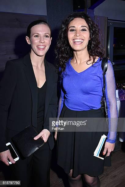 Singer Lorie Pester and TV presenter Aida Touihri attend 'Sechez Les Petites Larmes' Auction Gala to Benefit Immunohematology Service of Andre...