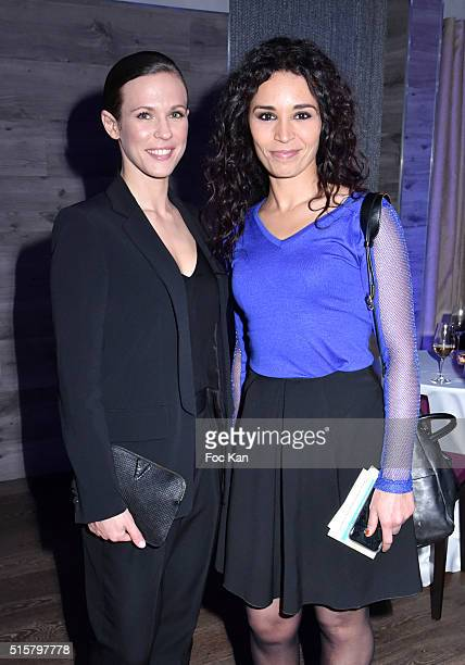 Singer Lorie Pester and TV presenter Aida Touihri attend 'Sechez Les Petites Larmes' Auction Gala to Benefit Immunohematology Service of Andre...