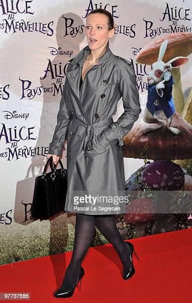 Singer Lorie to attend the premiere of Tim Burton's film 'Alice au pays des merveilles' at Theatre Mogador on March 15 2010 in Paris France