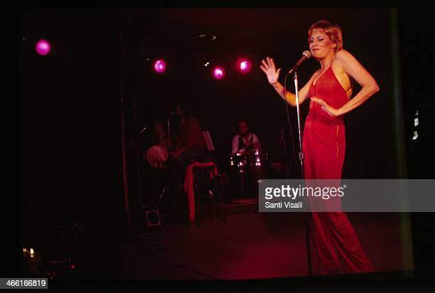 Singer Lorna Luft performing on April 5 1978 in New York New York