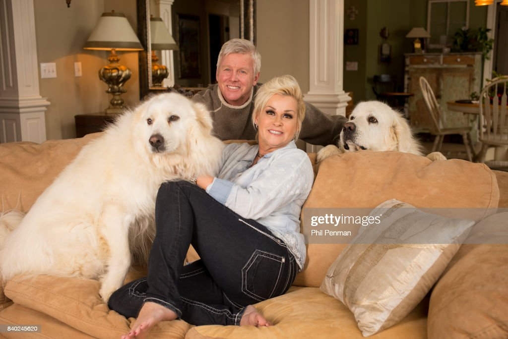 Singer Lorrie Morgan and husband Randy White are photographed with dogs for Closer Weekly Magazine on January 20, 2016 at home in Tennessee.