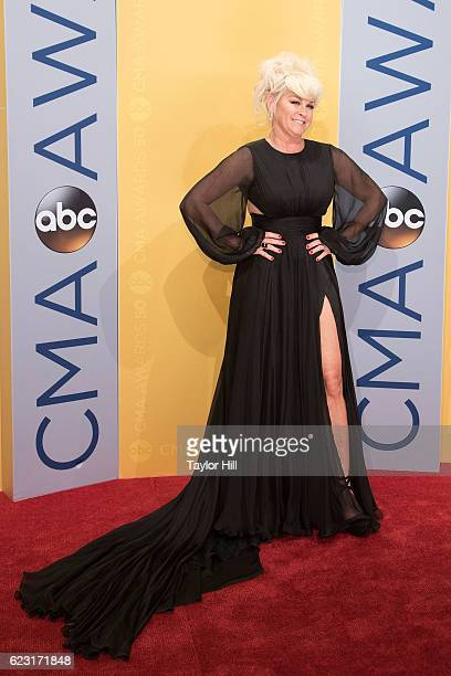 Singer Lorrie Morgan attends the 50th annual CMA Awards at the Bridgestone Arena on November 2 2016 in Nashville Tennessee