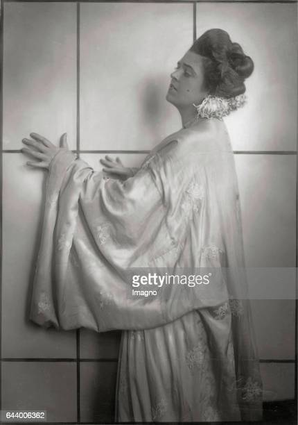 Singer Lotte Lehmann as ChoChoSan in >Madame Butterfly< by Giacomo Puccini Vienna State Opera 1921 Photograph by Franz Xaver Setzer