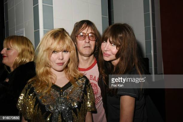 Singer Lou Lesage her mother Photographer/musician Gil Lesage and her father Pierre Emery from Ultra Orange bandattend the Les Bains Paris Music...