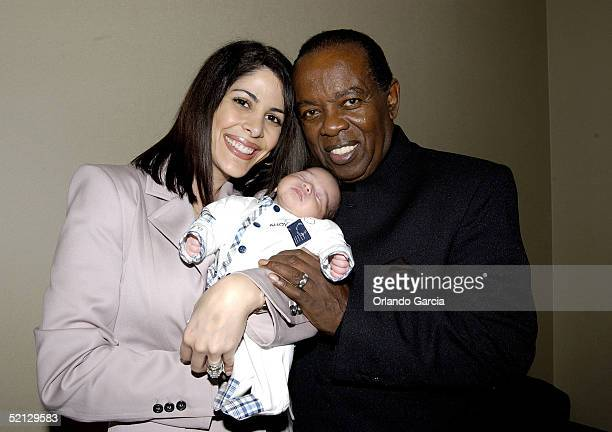 Singer Lou Rawls his wife Nina Malek Inman and baby Aiden Allen Rawls attend the inaugural event of the Lou Rawls Center For The Perfoming Arts...