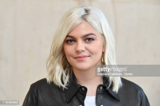 Singer Louane attends the Christian Dior show as part of the Paris Fashion Week Womenswear Fall/Winter 2019/2020 on February 26, 2019 in Paris,...