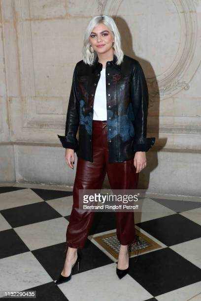 Singer Louane Emera attends the Christian Dior show as part of the Paris Fashion Week Womenswear Fall/Winter 2019/2020 on February 26, 2019 in Paris,...