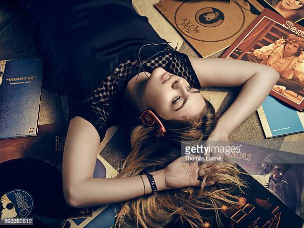 Singer Louane Emera is photographed for Self Assignment on November 15, 2014 in Paris, France.