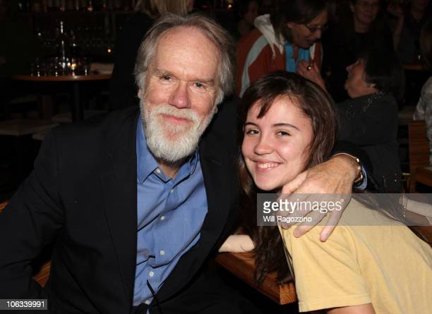 Singer Loudon Wainwright III and Oona Roche attend Lucy Wainwright Roche's CD release party at City Winery on October 28 2010 in New York City