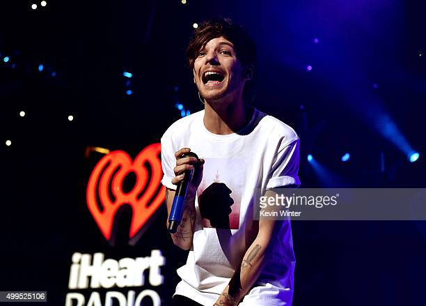 Singer Louis Tomlinson of musical group One Direction performs onstage during 1061 KISS FM's Jingle Ball 2015 presented by Capital One at American...