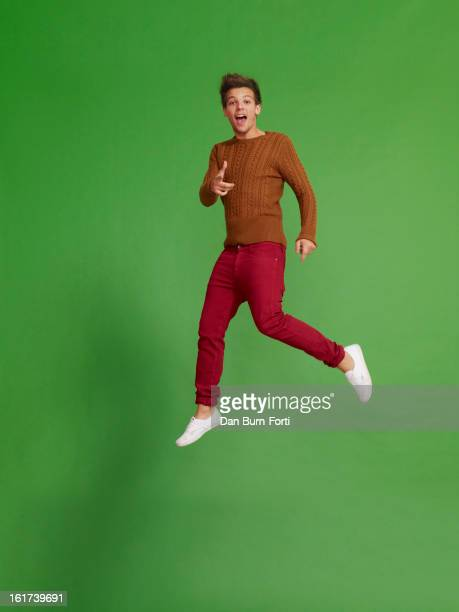 Singer Louis Tomlinson of pop band One Direction is photographed for Parade magazine on November 1 2012 in London England