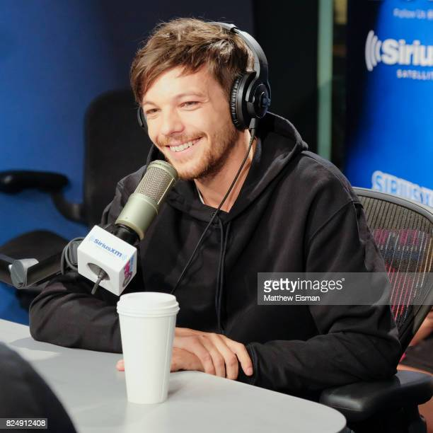Singer Louis Tomlinson of the band One Direction visits 'The Morning Mash Up' on SiriusXM Hits 1 Channel at SiriusXM Studios on July 31 2017 in New...