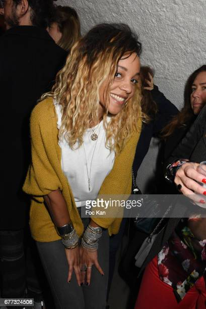 Singer Louisy Joseph from L5 band attends 'Attachiante' Chanez Concert and Birthday Party at Sentier des Halles Club on May 2 2017 in Paris France