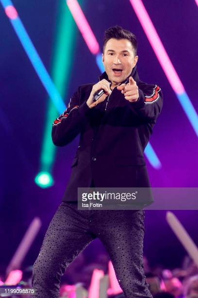 Singer Lucas Cordalis performs during the television show Schlagerchampions Das grosse Fest der Besten at Velodrom on January 11 2020 in Berlin...