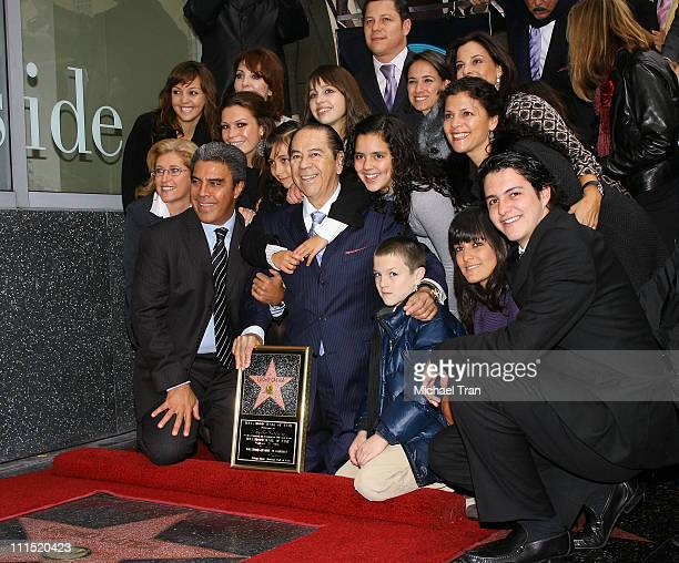 Singer Lucho Gatica and his family attend the Hollywood Walk of Fame honoring Singer Lucho King of Bolero Gatica held at 7021 Hollywood Boulevard on...