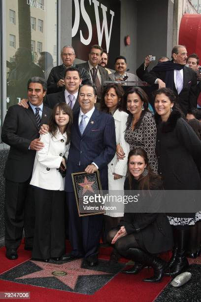 Singer Lucho 'King of Bolero' Gatica and his family attend the Hollywood Walk of Fame in his honor held at 7021 Hollywood Boulevard on January 25...