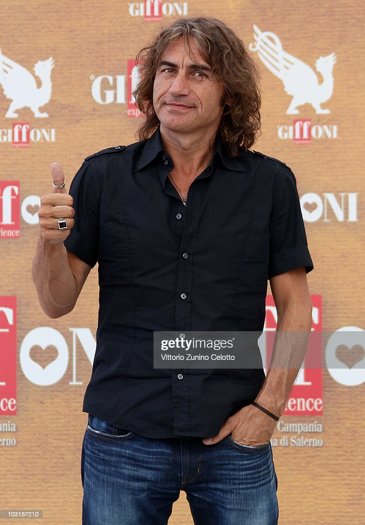 Singer Luciano Ligabue attends a photocall during Giffoni Experience 2010 on July 29, 2010 in Giffoni Valle Piana, Italy.