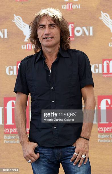 Singer Luciano Ligabue attends a photocall during Giffoni Experience 2010 on July 29 2010 in Giffoni Valle Piana Italy