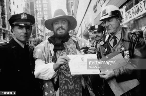 Singer Luciano Pavarotti on October 10 1980 in New York New York