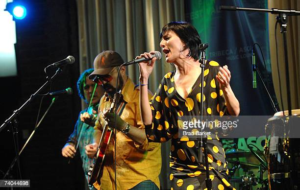 Singer Lucy Diamentes of the band Yerba Buena performs onstage at the ASCAP Tribeca Music Lounge held at the Canal Room during the 2007 Tribeca Film...