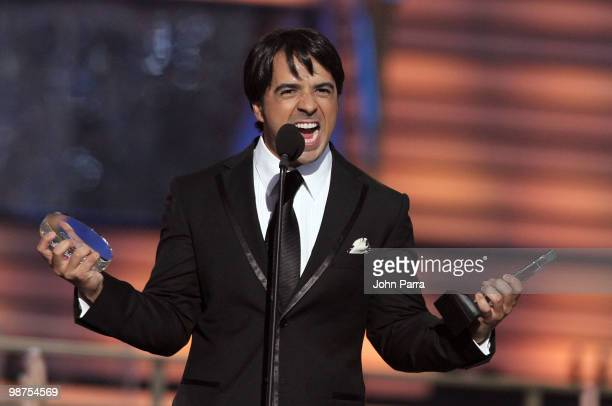 Singer Luis Fonsi accepts an award onstage at the 2010 Billboard Latin Music Awards at Coliseo de Puerto Rico José Miguel Agrelot on April 29 2010 in...