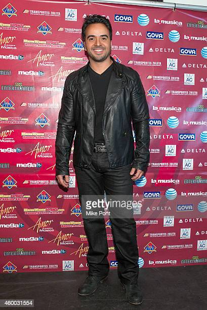 Singer Luis Fonsi attends Amor A Nuestra Musica 2014 at the Nassau Coliseum on December 5 2014 in Uniondale New York