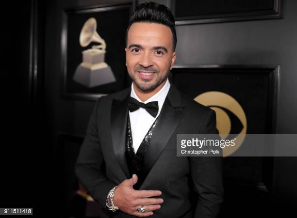 Singer Luis Fonsi attends the 60th Annual GRAMMY Awards at Madison Square Garden on January 28 2018 in New York City