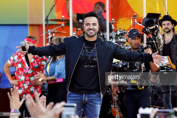 Singer Luis Fonsi performs on ABC's 'Good Morning America' at SummerStage at Rumsey Playfield Central Park on August 24 2018 in New York City