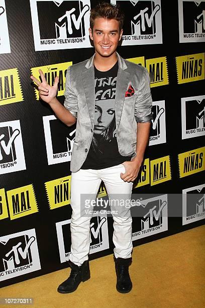 Singer Luis Lauro attends the MTV Niñas Mal Soap Opera party at Ragga Antara Polanco on December 1 2010 in Mexico City Mexico