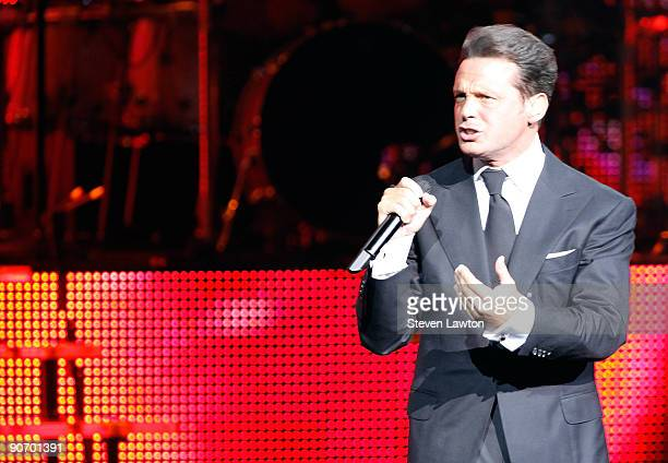 Singer Luis Miguel performs at The Colosseum at Caesars Palace on September 12 2009 in Las Vegas Nevada