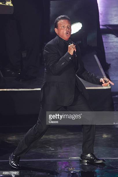 Singer Luis Miguel performs during a concert at Auditorio Nacional on November 19 2015 in Mexico City Mexico