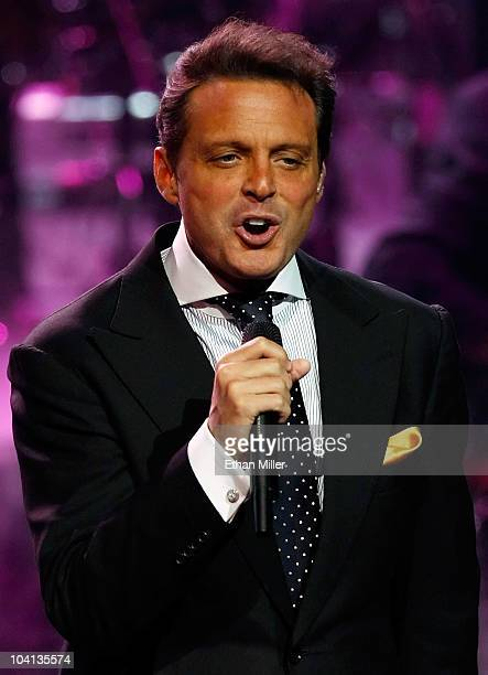 Singer Luis Miguel performs during the first of four soldout shows at The Colosseum at Caesars Palace September 15 2010 in Las Vegas Nevada Miguel...