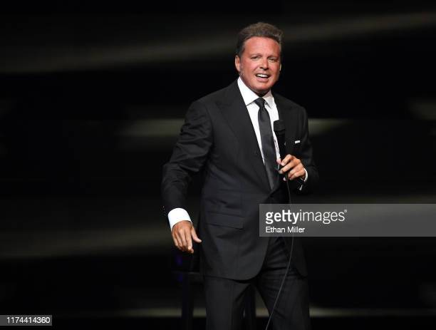 Singer Luis Miguel performs on the first night of his fourdate limited engagement at The Colosseum at Caesars Palace on September 12 2019 in Las...