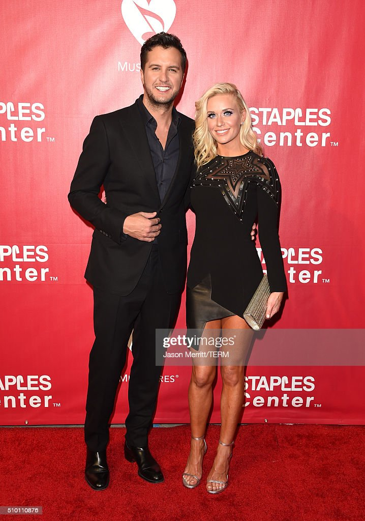 Singer Luke Bryan (L) and Caroline Boyer Bryan attend the 2016 MusiCares Person of the Year honoring Lionel Richie at the Los Angeles Convention Center on February 13, 2016 in Los Angeles, California.