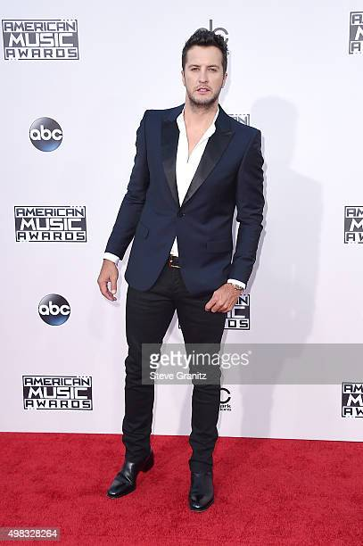 Singer Luke Bryan attends the 2015 American Music Awards at Microsoft Theater on November 22 2015 in Los Angeles California