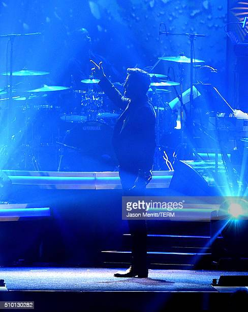 Singer Luke Bryan performs onstage during the 2016 MusiCares Person of the Year honoring Lionel Richie at the Los Angeles Convention Center on...