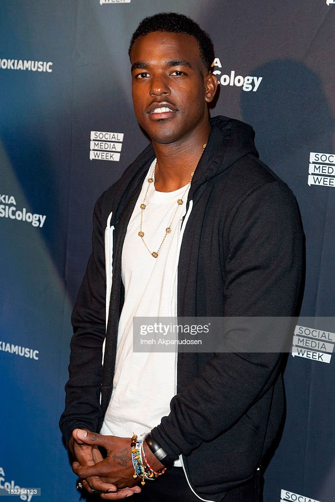 Singer Luke James attends a Nokia Music Launch Concert at Club Nokia with Janelle Monae on September 25, 2012 in Los Angeles, California.