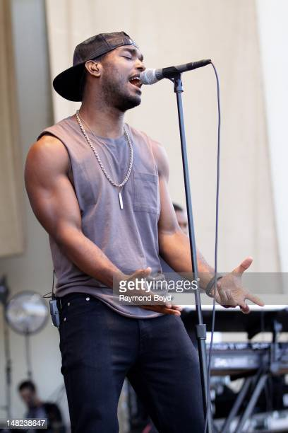 Singer Luke James performs on the Petrillo Music Shell during the 32nd Annual Taste Of Chicago in Chicago Illinois on JULY 11 2012