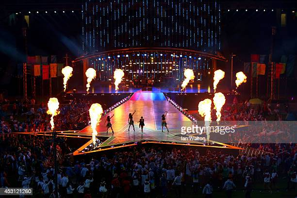 Singer Lulu performs during the Closing Ceremony for the Glasgow 2014 Commonwealth Games at Hampden Park on August 3, 2014 in Glasgow, United Kingdom.