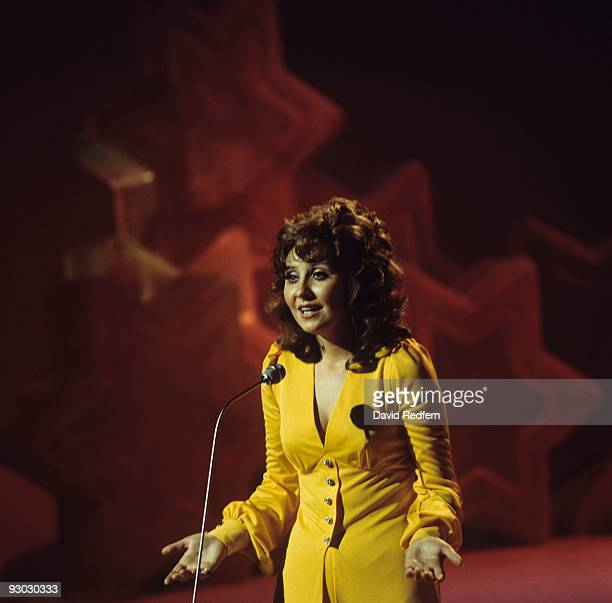 Singer Lulu performs on 'It's Lulu' BBC television show filmed in London England in 1973