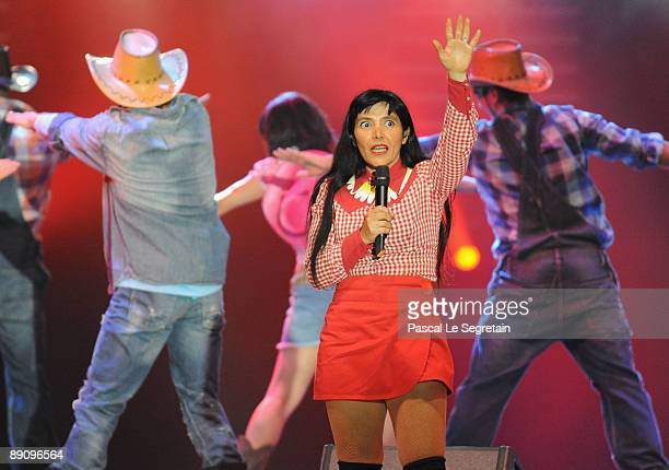 Singer Luna Parker performs on stage during the charity summer gala for Fight Aids Monaco on July 17 2009 in Monaco Monaco