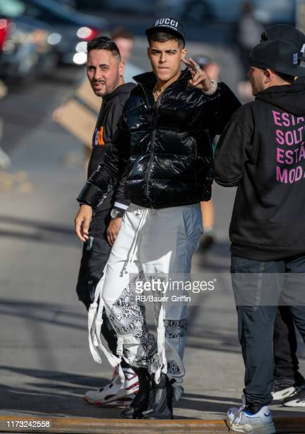 Singer Lunay is seen at 'Jimmy Kimmel Live' on October 02 2019 in Los Angeles California